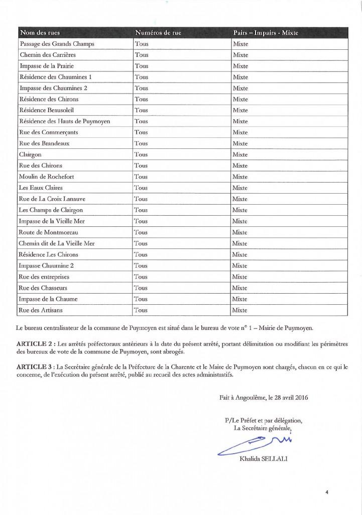 arrêté bureaux de vote 3